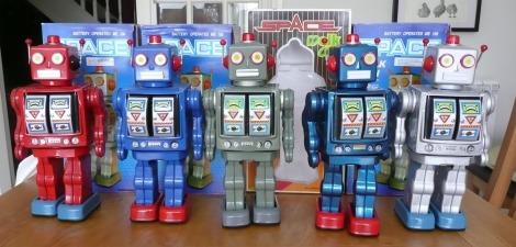 Space Walkman Robot Gang of Five